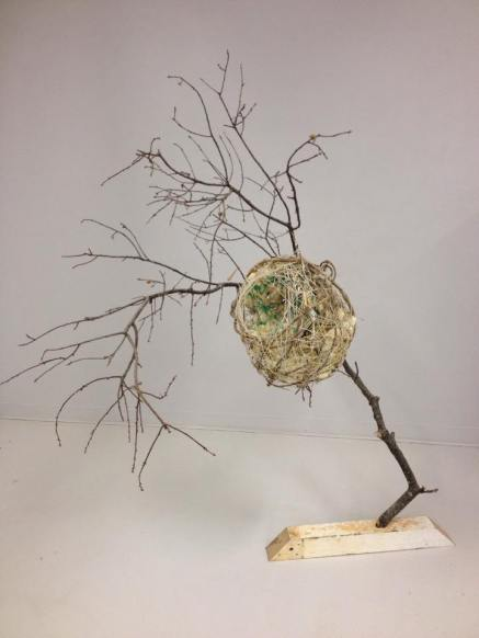 Out on a Limb, Lisa R. Horlander, found objects