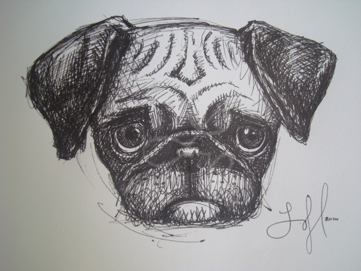 Lisa Horlander-Pug Dog-9inx7in-2010