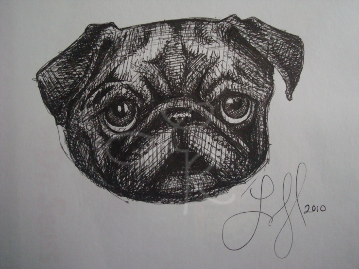 Lisa Horlander-Pug Dog2-9inx7in-2010