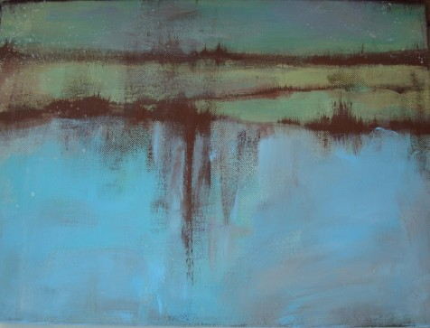 Lisa Horlander-By the waters-16in x 12in-2010