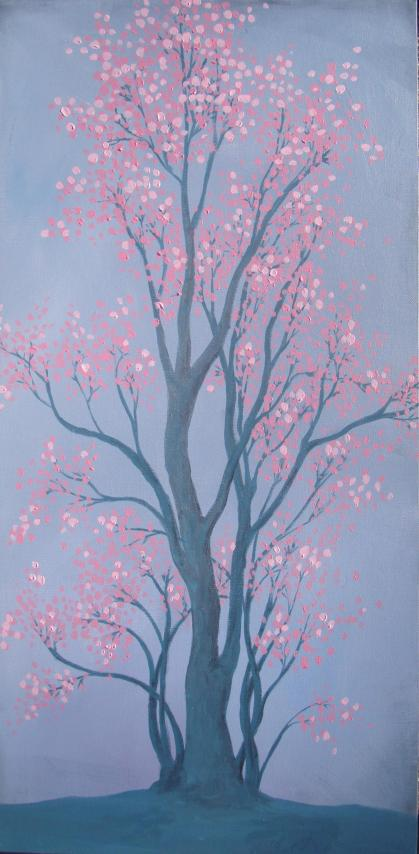 Lisa Horlander-Spring Blossoms-15in x 30in-acrylic-2010
