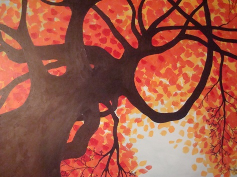 Lisa Horlander-Under the Fall tree-acrylic and marker-2010