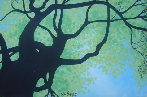 Lisa Horlander-Under the Spring Tree-acrylic and marker-2010