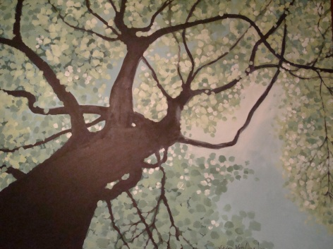 Lisa Horlander-Under the Summer Tree-acrylic and marker-2010