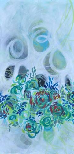 Metaphoric Flowerets 2 x 4 ft acrylic on canvas