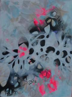 Amorphic Breeze 3 x 4 ft acrylic on canvas -(displayed at Roast)$1400