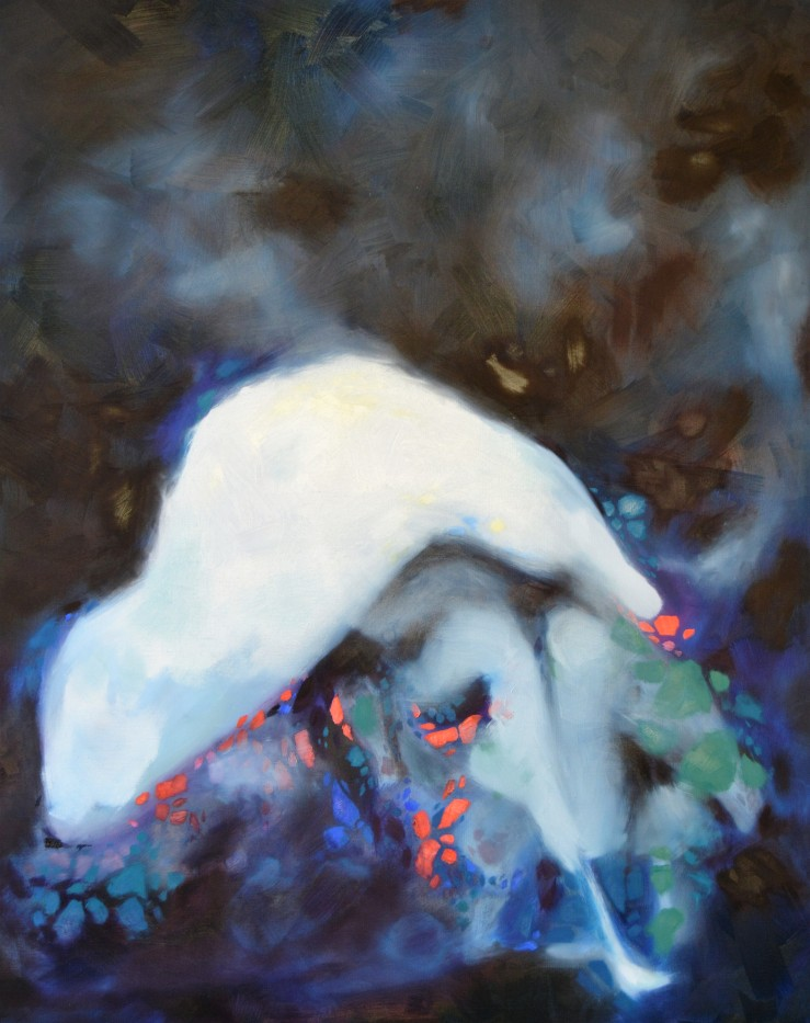 Lisa Rachel Horlander, Abate, 5x4 ft, oil on canvas