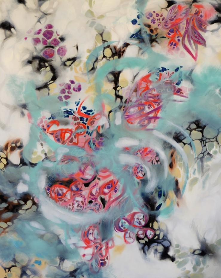 Lisa Rachel Horlander, Adebt, 5x4 ft, oil on canvas