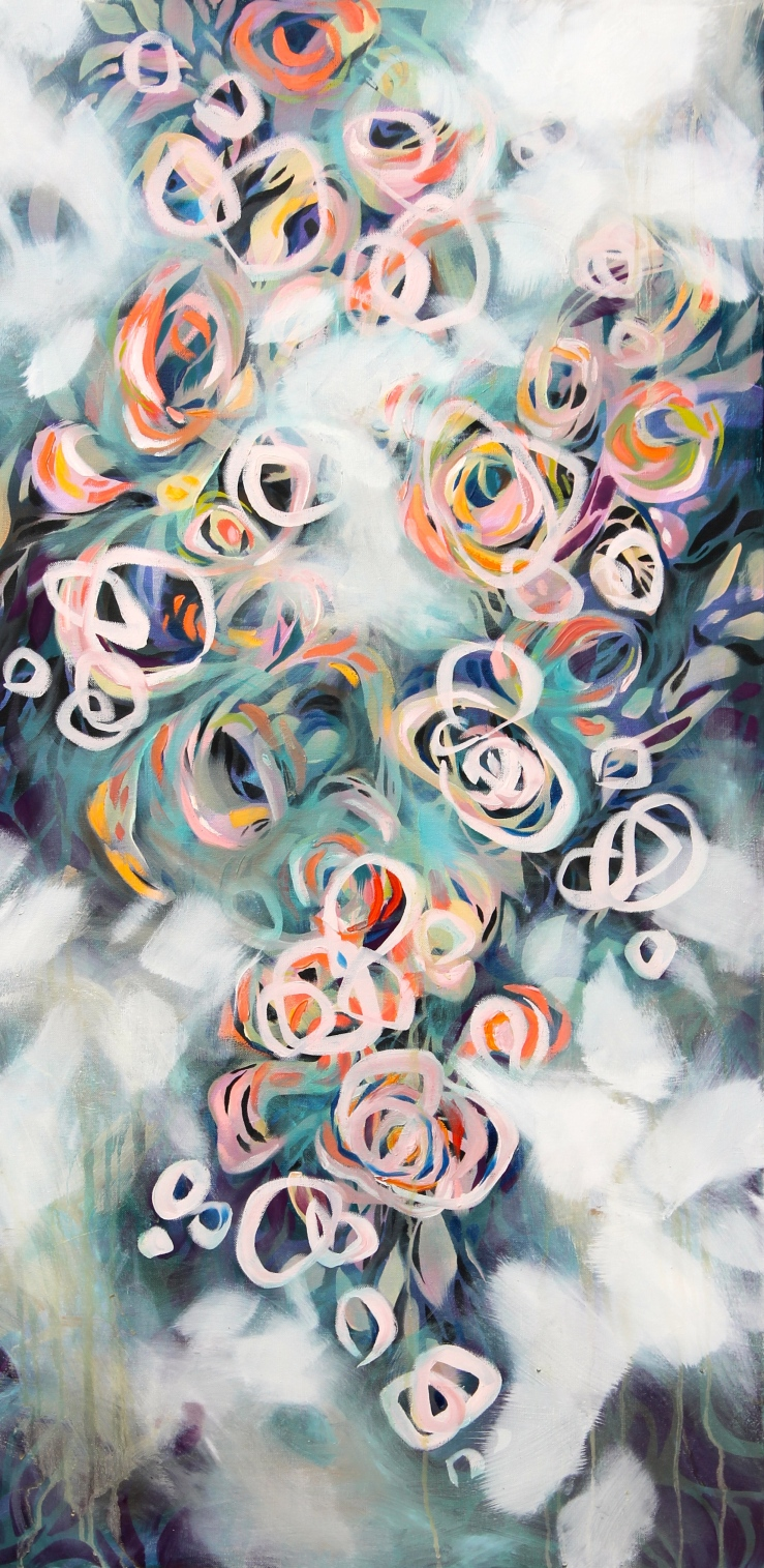 Lisa Rachel Horlander, atmosphiric decline, 2x4ft, acrylic and oil