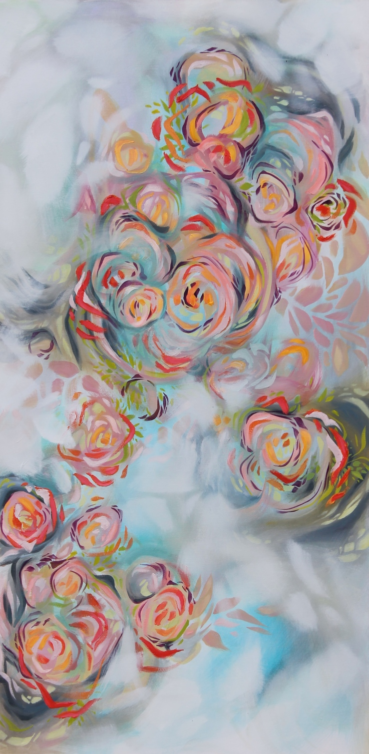 Lisa Rachel Horlander, atmosphiric origin, 2x4ft, acrylic and oil