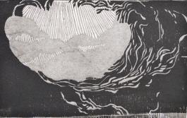 Amorphic Mood- wood block print