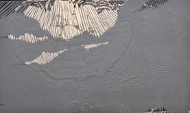 Amorphic Moon- linoleum print-4x6 in-$30