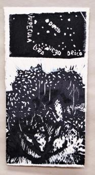 Singular Crescendo- linoleum print-5x10 in-$25