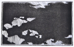 Line Study- linoleum print-5x8 in-$30
