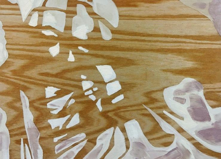 Beneath wings-oil on wood-5x7x1.5in