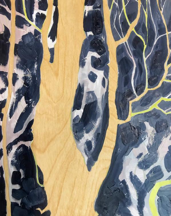 Straighten Up-oil on wood-10x8x1.5in